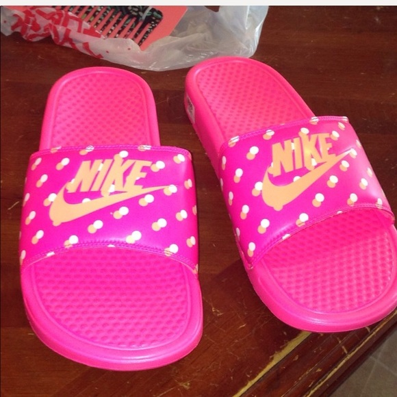 f49703b1148a Brand New in Box Hot Pink Nike Slip Ons! Size 12